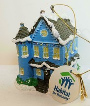 Hand Painted Habitat for Humanity Ornament Victorian House Christmas - $16.00