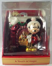 Disney Touch of Magic Glass Christmas Ornament 682682 Mickey Mouse Fireplace - $22.24