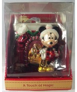 Disney Touch of Magic Glass Christmas Ornament 682682 Mickey Mouse Firep... - $22.24