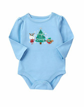 NWT! GYMBOREE HOLIDAY MERRY and BRIGHT BODYSUIT ONE-PIECE (ICY BLUE) - $11.10
