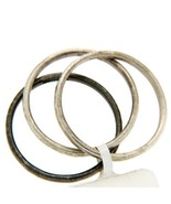 Authentic GURHAN 925 Sterling Silver Set of 3 Midnight Band Ring Size 6.... - $186.07