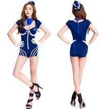 Halloween Women Blue Navy Uniform Costume Jumpsuits Partywear - $24.87