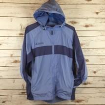 Columbia Womens Windbreaker Jacket Size Medium Hiking Sports Packable Blue - $23.51