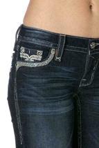 Rock Revival Women's Premium Skinny Dark Denim Jeans Woven Pants Isiah S image 5