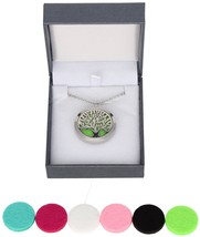 Aromatherapy Stainless Steel Essential Oil Diffuser Necklace Tree Of Life 6 - $26.64