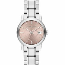 Burberry BU9124 Heritage Silver Swiss Made Womens Watch - $315.85 CAD