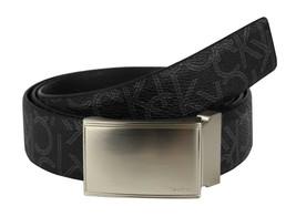 Calvin Klein Ck Men's Leather Reversible Buckle Belt 3 Piece Set Box Black 74360 image 2