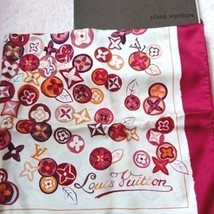 LOUIS VUITTON LV Scarf Scarves Stole Monogram Silk 100% Women Luxury Aut... - $525.93