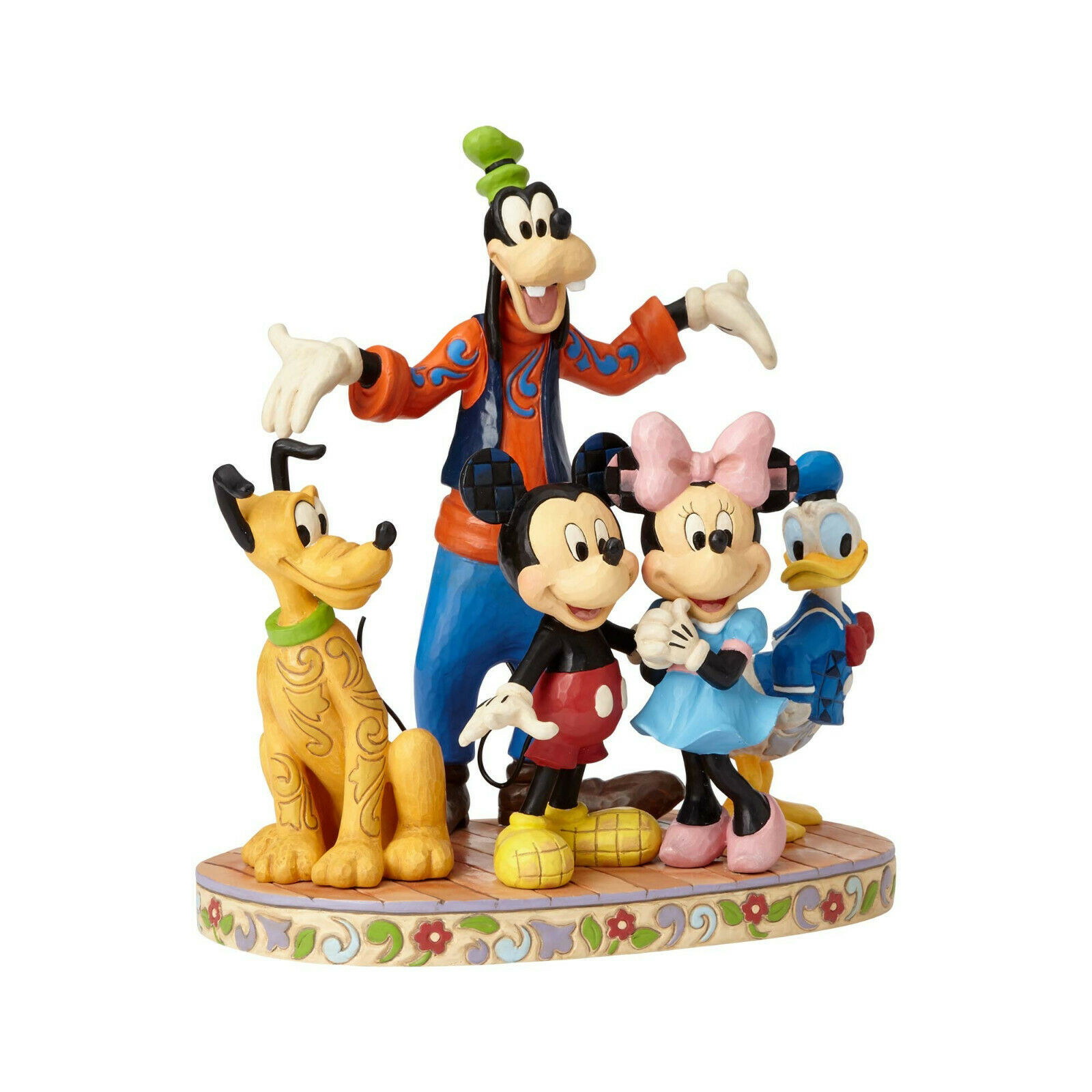 """10.83"""" """"The Gang's All Herel """" Goofy, Pluto, Donald Duck, Mickey & Minnie Mouse"""