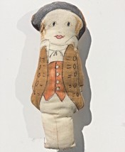 handmade miniature stuffed doll 18th Century Men's Fashion Amer Revoluti... - $8.89