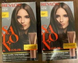(2) Revlon Salon Color #5 Medium Brown Color Booster Kit For Week 3 And 6 - $24.74