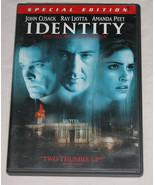 Identity DVD 2003 Special Edition John Cusack Amanda Peet Ray Liot USA - $5.56