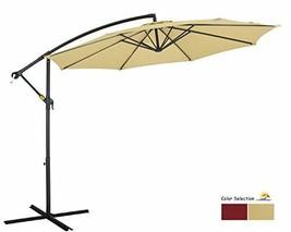 Patio Watcher 10ft Offset Cantilever Patio Umbrella Outdoor Market Hangi... - $119.87