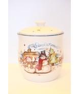 HC Accents Boyds Steward Earthworks Starry Nights Snowman Cookie Jar #62... - $54.44