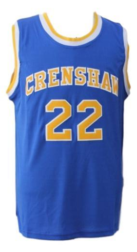 Mccall  22 crenshaw high love and basketball movie jersey blue  1