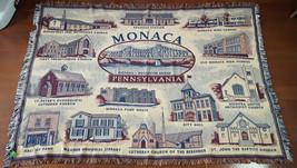 Monaco Pennsylvania Town Landmarks Church School Woven Throw Blanket 70 ... - ₹2,915.69 INR