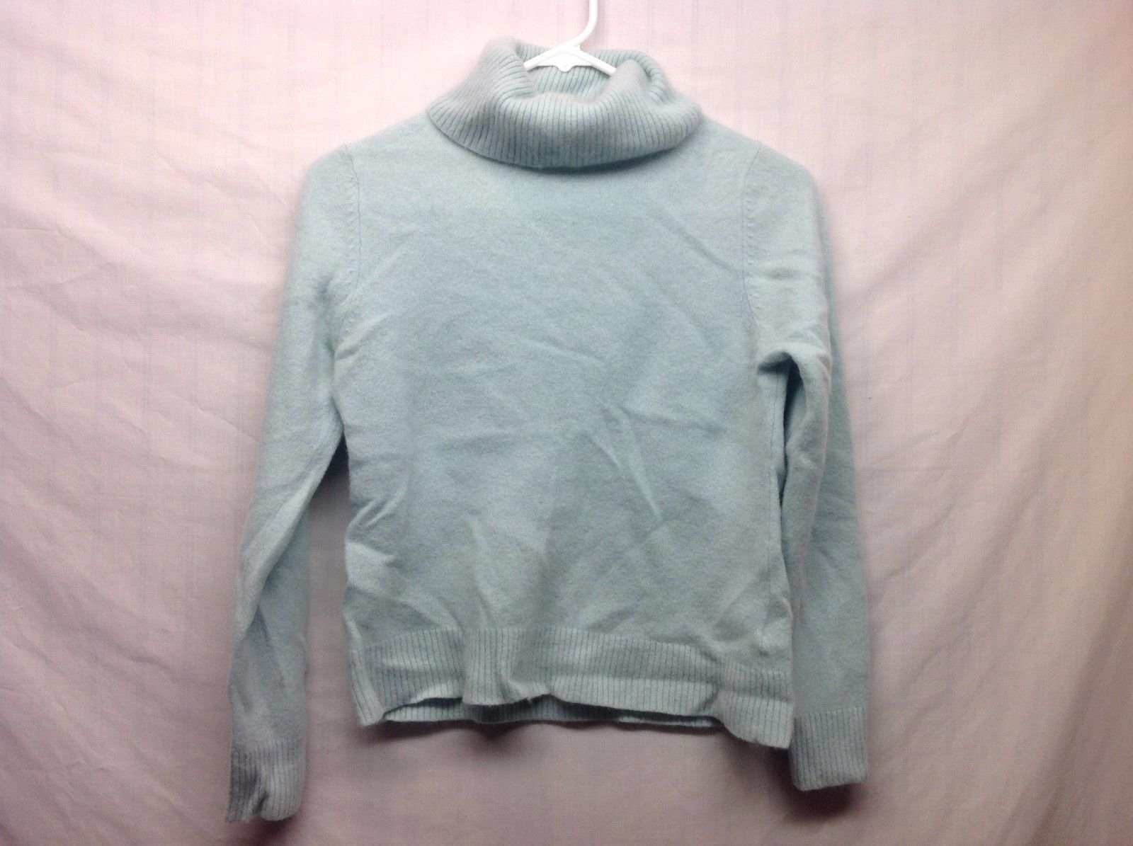 John Lewis Super Warm Cozy Pastel Baby Blue Long Slv Turtleneck Sz 14