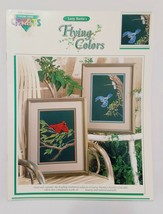 Flying Colors Bluebirds Cardinal Cross Stitch Leaflet Book Color Charts 1991 - $14.99