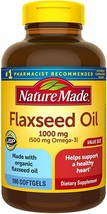 Nature Made Flaxseed Oil 1000 mg Softgels, 180 Count Value Size for Hear... - $19.79