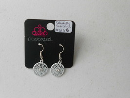 Paparazzi Earrings (New) Colorfully Capricious #5156 - White - $8.58