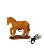 Vintage Melted Plastic Popcorn Horse Night Light Tested Works Prancing Pony - $19.99