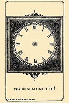 Tell Me What Time it is? by French Puzzle Card - Art Print - $19.99+