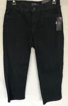 NEW Womens 10736T2032 Not Your Daughters Jeans Lift Tuck Black 0 - $27.71