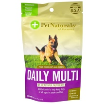 Pet Naturals of Vermont, Daily Multi, For Dogs, 30 Chews, 3.70 oz (105 g) - $12.00