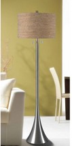 Kenroy Home Bulletin Floor Lamp, Brushed Steel - $145.44