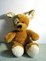 """Brown Dog with White Spot Eye Seated Stuffed 12"""" Build a Bear  - $14.03"""