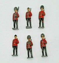 Britains Ltd Toy Soldiers Royal Scots Welsh Lead Figurines Lot of 6 Redcoats VTG - $18.29
