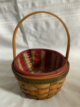 Longaberger 2005 Holiday Helper Basket Combo With Liner & Protector - $23.36