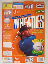 Empty WHEATIES Cereal Box 1998 18oz TIGER WOODS Golf Ball Offer [G7E9f] - $7.22