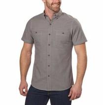 NEW G.H. Bass & Co. Men's Short Sleeve Crosshatch Woven Shirt - Pewter image 1