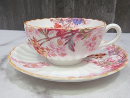 Vintage Spode Copeland's Chelsea Garden Fluted Cup and Saucer - $19.80