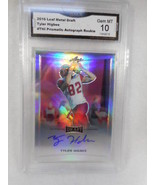 2016 Leaf Metal Draft THI Tyler Higbee Prismatic Auto Rookie GMA Graded ... - $21.73