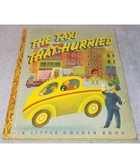 Little Golden Book The Taxi That Hurried No 25 I Printing 1946 Tibor Ge... - $9.95