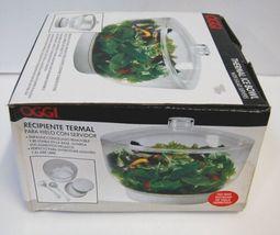 Oggi 5522 Thermal Bowl Color Clear Salad Servers Removable Freezer Pack image 3