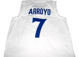 Carlos Arroyo #7 Puerto Rico Basketball Jersey White Any Size image 2