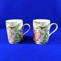 Pair of Hummingbird Mugs Cups Fitz and Floyd 10 Ounces 1991 - $24.50