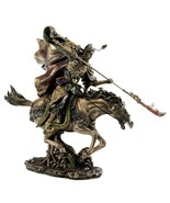 "GUAN YU STATUE 12"" Bronze Resin Guan Gong Chinese Warrior Three Kingdoms... - $209.95"