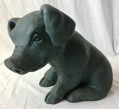 Goose Creek Pig Figurine Statue Yard Art Garden Decor Resin 1993 - $29.95