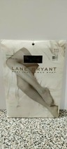 Lane Bryant Daysheer Black Reinforced Toe Off White Size B Hosiery Panty... - $4.99