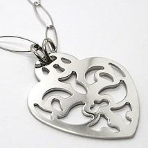 Halskette Silber 925, Kette Oval, Herz Gerade Perforiert, Anhänger image 2