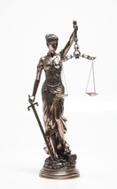 31.5 Inch Large Lady Justice with Scales and Sword Statue Figurine - £121.91 GBP