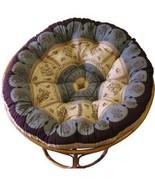 Cotton Craft Overstuffed Round Papasan Cushion, Floral Chocolate - $75.03