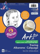Pacon Art1St Tracing Paper Pad, 9 X 12 Inches, 50 Sheets (2312) - $7.25+