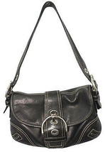 Coach Leather Trim Canvas Monogram Shoulder Bag - $35.22
