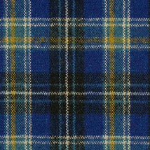 Maharam Upholstery Fabric Pressed Plaid Wool Cobalt Blue 1.125 yds 46618... - $23.09