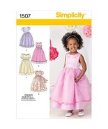 Simplicity 1507 Toddler Girl's Formal Dress Sewing Pattern, Sizes 4-8 - $6.88